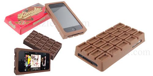 Une housse chocolat pour IPhone, au chocolat noir ou au lait?