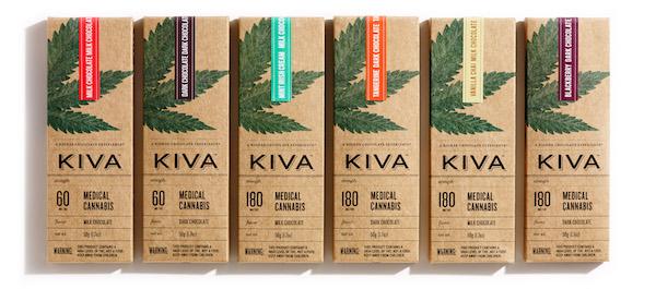 Les tablettes de chocolat au canabis de Kiva©