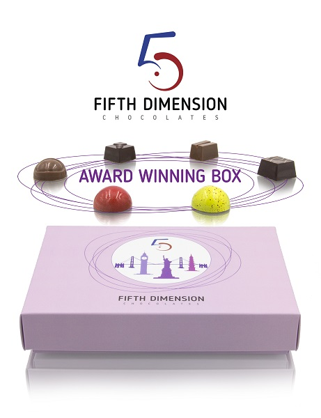 Fifth Dimension Chocolates -Award Winning Box