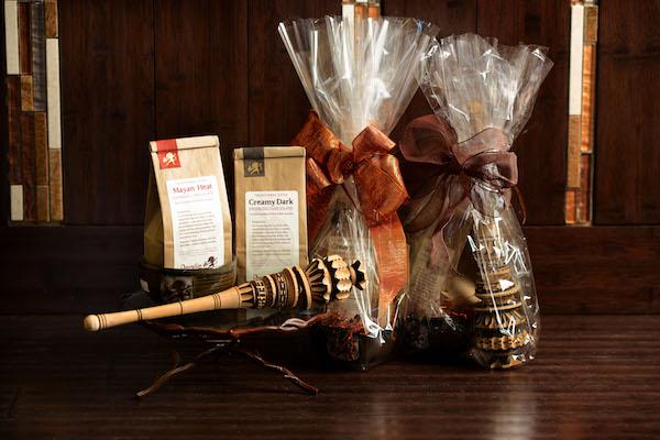 Panier cadeau chocolat chaud par Dancing Lion Chocolate©Kristin Boudreau