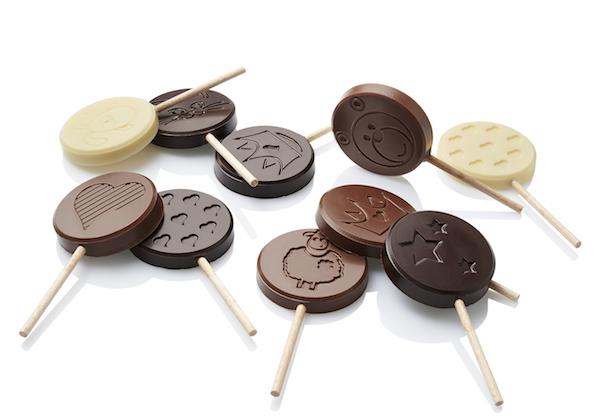 Sucettes 3 parfums chocolat-Caffet©