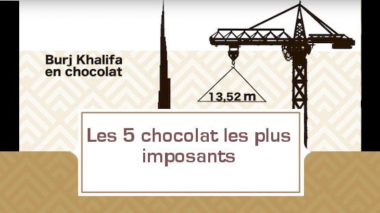Les 5 chocolats les plus imposants.