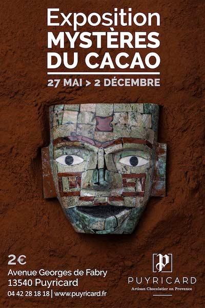 Affiche Mystères du Cacao - Chocolaterie de Puyricard©