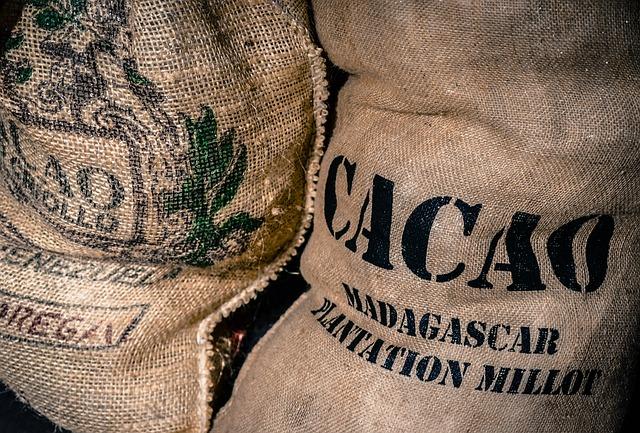 Sacs de fèves de cacao©