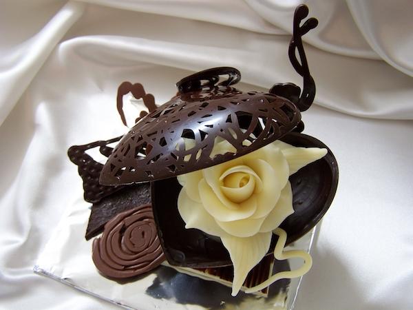 Guillaume Daix coeur rose chocolat bio©