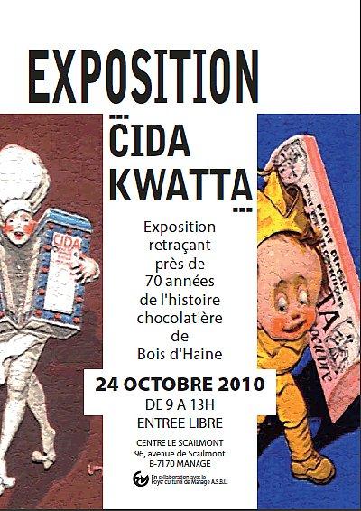 Exposition sur l'ancienne chocolaterie CIDA - KWATTA de Bois d'Haine