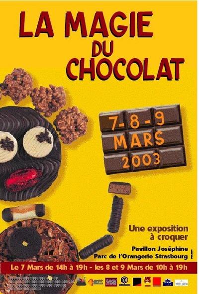 LA MAGIE du CHOCOLAT - les 7 - 8 et 9 mars 2003 au pavillon Joséphine à Strasbourg