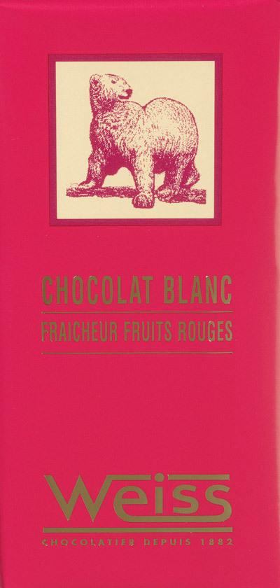 Chocolat Blanc fruit rouge