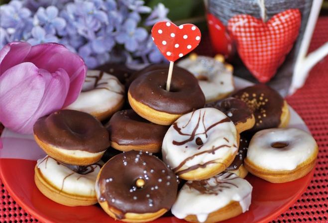 Donuts au chocolat à base de levure de boulanger©