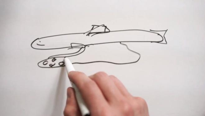 Le dessin technique pour la réalisation du poisson chocolat©ChocoClic.com