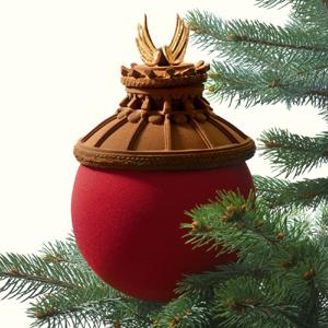 Boule de Noël en chocolat