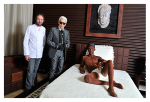 La suite en Chocolat Magnum par Karl Lagerfeld