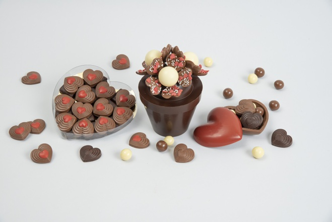 Chocolat en cœur Saint-Valentin