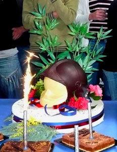Un magnifique Casque de pompier en Chocolat de Markotx