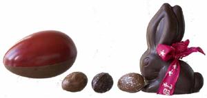 Jean-Paul Hévin propose pour Pâques, les Pascales Surprises chocolat.