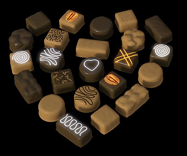 invention chocolat 3D