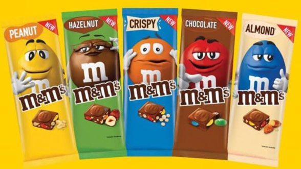 m&m's tablette de chocolat