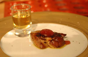 Gelée de Pineau des Charentes rosé, Foie gras fermier poêlé