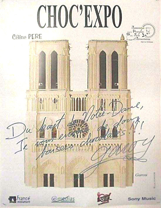 Garou signe Notre Dame en chocolat
