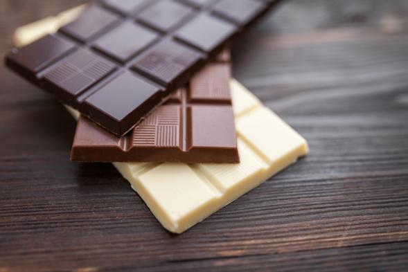 délicieux barres de chocolat