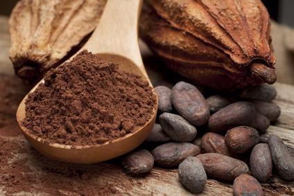 Poudre de cacao, fèves et cabosse©