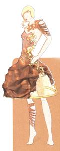 Cette robe sera également présentée sur le stand et portée lors des défilés en semaine