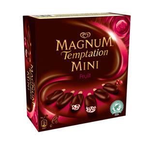Magnum Mini Temptation Fruit x 6. Prix Marketing Conseillé*: entre 4,49€ et 4,65€