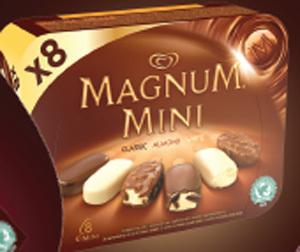 Magnum Mini Classic x 8. Prix Marketing Conseillé*:  entre 4,35€ et 4,49€