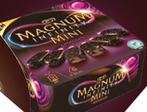 Magnum Mini Infinity x 6. Prix Marketing Conseillé*: entre 4,35€ et 4,49€