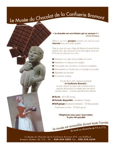 Le Musée du Chocolat de la Confiserie Bromont au Canada