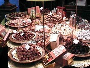 Le chocolat CHAPON au salon du chocolat 2000