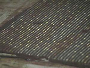 Décoration fine torsadée en chocolat