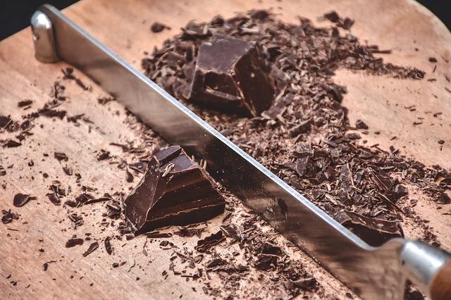 Chocolat à cuire coupé©