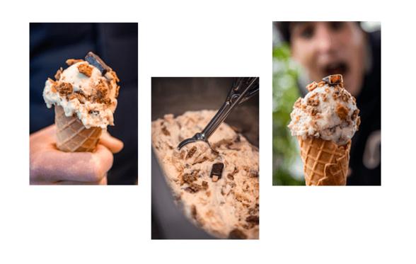 Création d'une glace au parfum « galette des rois »