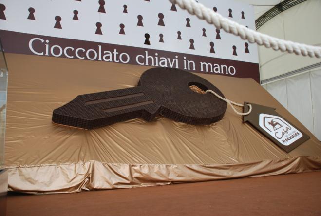 Sculpture en chocolat à l'Eurochocolate©