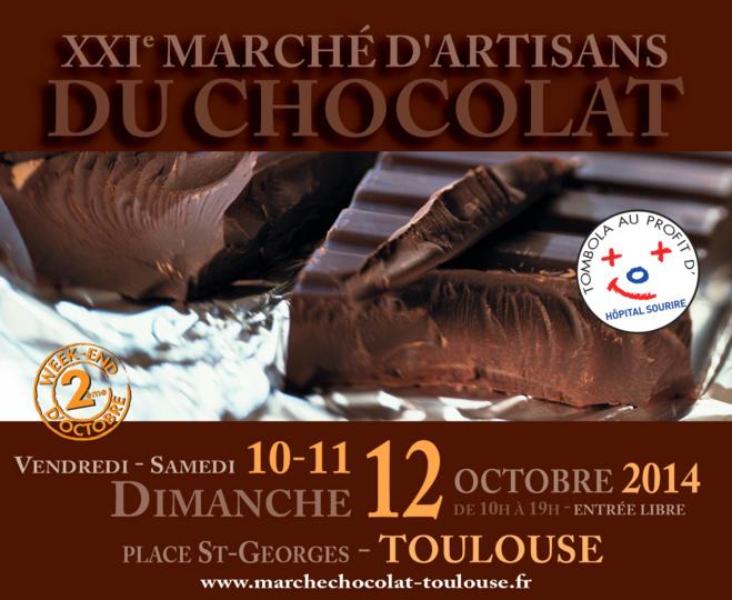 Affiche du 21ème marché du chocolat de Toulouse©