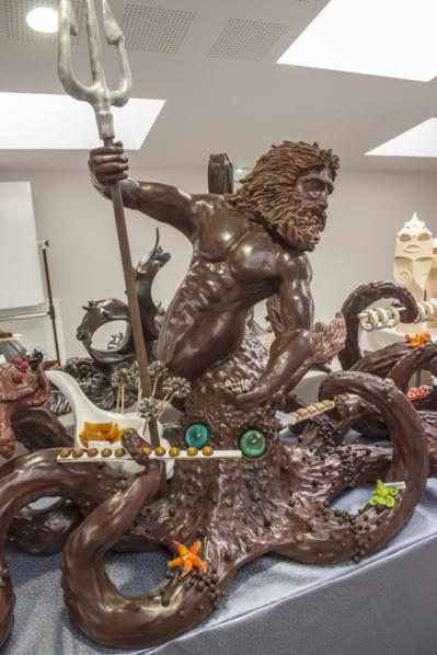 Sculpture en chocolat au concours MOF