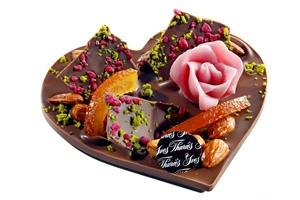 Coeur  chocolat au lait- Yves Thuriès