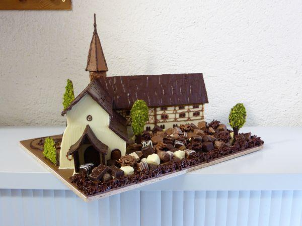 Sculpture en chocolat par Tristan©