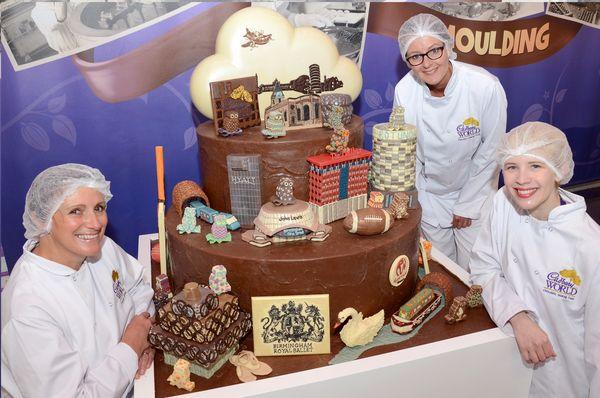 La réplique de la ville de Birmingham en Chocolat© photo Cadbury World