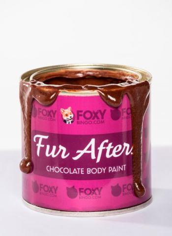 Fur After, la peinture pour le corp au chocolat par Foxy Bingo©