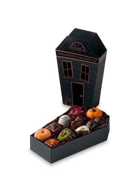 Les chocolats d'halloween de Moonstruck Chocolate co©Moonstruck Chocolate Co