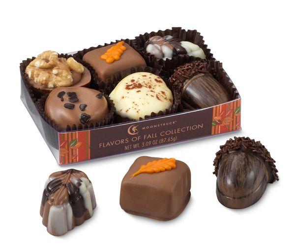 La collection délices d'Automne de Moonstruck Chocolate co.©Moonstruck Chocolate Co