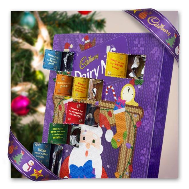 Calendrier de l'avent 2014 par Cadbury©