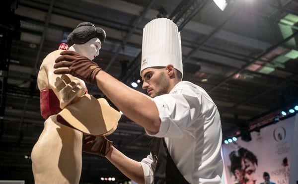 Pepe Isla en plein travail aux World Chocolate Masters 2015©