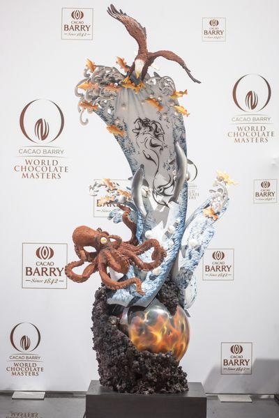 Sculpture en chocolat par Ramon Huigsloot©
