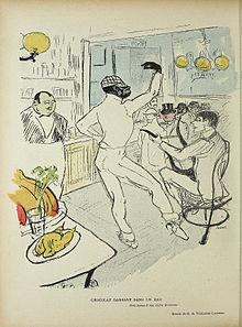 Caricature de Chocolat par Toulouse-Lautrec, 1896©