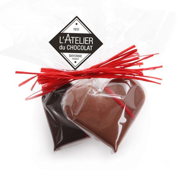 Duo de coeurs pour la St Valentin par L'Atelier du Chocolat©