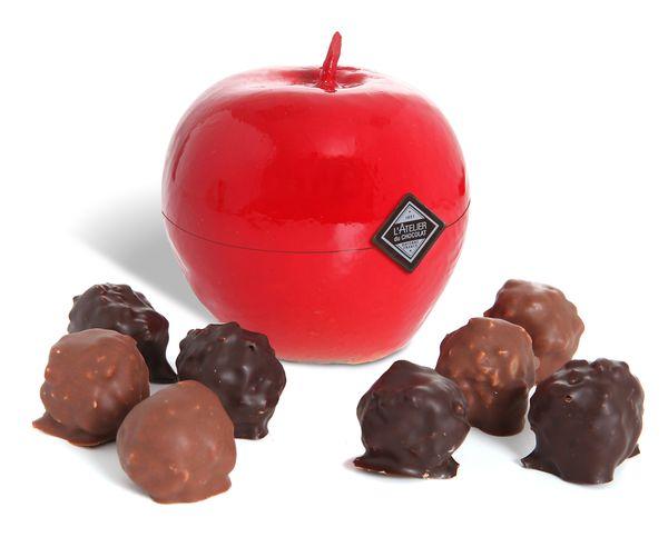 Pomme d'amour pour la St Valentin par L'Atelier du Chocolat©
