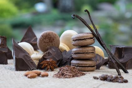 Macarons et chocolat©